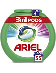 Ariel 3-in-1 Pods Colour and Style Washing Capsules, 55 Washes