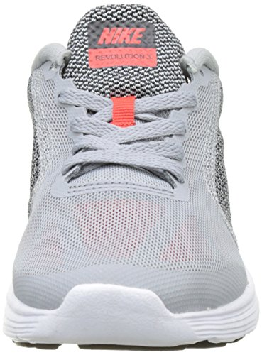 Nike 819413-006, Chaussures de Tennis Garçon Multicolore (Wolf Grey/Max Orange/Black/White)