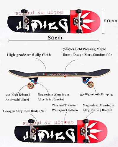Skateboard-Deck für die Perfektionierung Ihres Ollie und Kickflip Lernen Sie in kürzester Zeit das Üben und Landen von Tricks! (Skateboard-ollie)