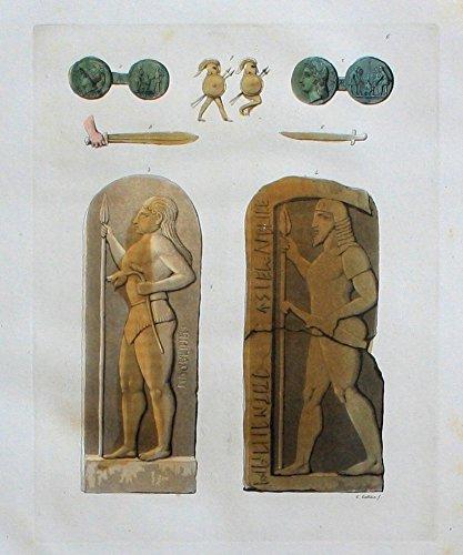 Grafik Etrusker Etrusca Antike Altertum Aquatinta aquatint antique print