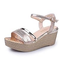 Culater® Mujer Sandalias Cuña, Zapatos de Verano Open Toe Plataforma
