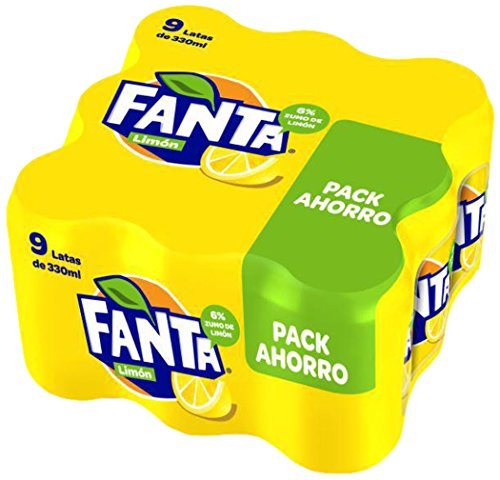 Fanta Refresco de Limon - Paquete de 9 x 330 ml - Total: 2970 ml