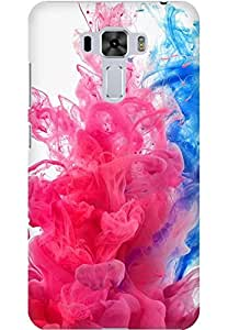 AMEZ designer printed 3d premium high quality back case cover for Asus Zenfone 3 Laser (splash colour smoke)