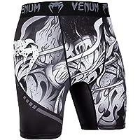 Venum Devil Pantalones Cortos de Compresión, Hombre, Blanco/Negro, XL