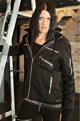 Mason Vixxsin giaccone da Uomo Nero Emo Punk ragazza Boys fangbanger