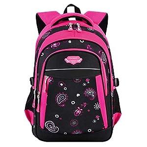 Mochilas Escolares,Fanspack Bolso Mochila Deporte Multi-Función Mochila Colegio Backpack Grande Mochila Infantil Juveniles Mochilas para niños de Primaria (Fanspack Rojo)