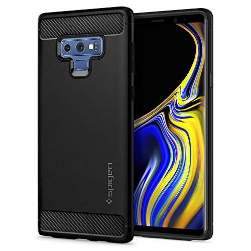 Spigen Rugged Armor Cover Galaxy Note 9, Assorbimento Acustico e Struttura in Fibra di Carbonio Custodia per Samsung Galaxy Note 9, Nero Opaco