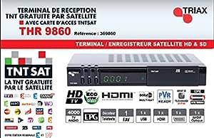 Récepteur TNT satellite 12V TNTSAT HD TRIAX THR9860 (avec carte TNTSAT valable 4 ans) - Connectea