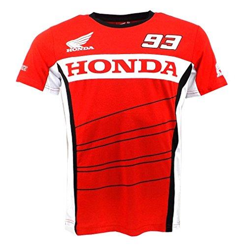 marc-marquez-93-dual-honda-ailes-moto-gp-t-shirt-rouge-officiel-neuf