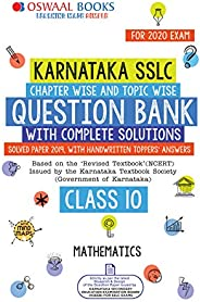 Oswaal Karnataka SSLC Question Bank Class 10 Mathematics Book Chapterwise & Topicwise (For March 2020 E
