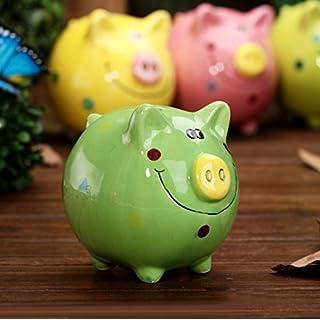 UChic 1 STÜCKE Kreative Bunte Keramik Schwein Piggy Box Kinder Geschenke Cartoon Spardose Kinder Münze Bank Valentinstag Geschenke Geburtstagsgeschenk