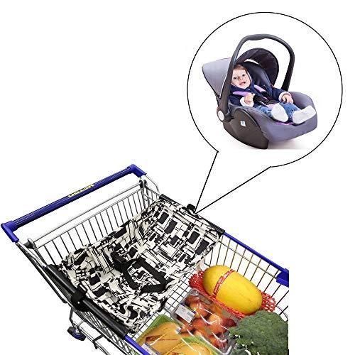 TXDY Baby-Einkaufswagen-Hängematte, tragbare Faltbare Einkaufszentren Pushcart-Kissen-Bett-Hängematte-sichere Reise passt neugeborenes Infan an(0-6Months) (Restaurant, Cart)