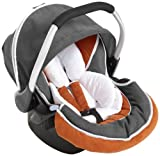 Hauck Zero Plus Select Babyschale, nicht Isofixfähig, Gruppe 0+ (0-13 kg), orange/grau