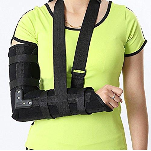 Arm-Riemen-Ellenbogen-Schulter-Gepolsterte Stützklammer-Humerus-Schiene Immobilisieren Stabilisieren Sie Das Verletzte, Vor / Post-Chirurgie-Hilfsmittel Unisex,Black,L - Black Arm-schlinge