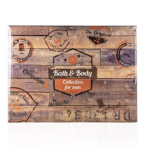 Accentra Beauty-Adventskalender für Männer & Jungen, abwechslungsreicher Kosmetik-Inhalt für Körperpflege, Hautpflege & Badespaß, verführerische Düfte