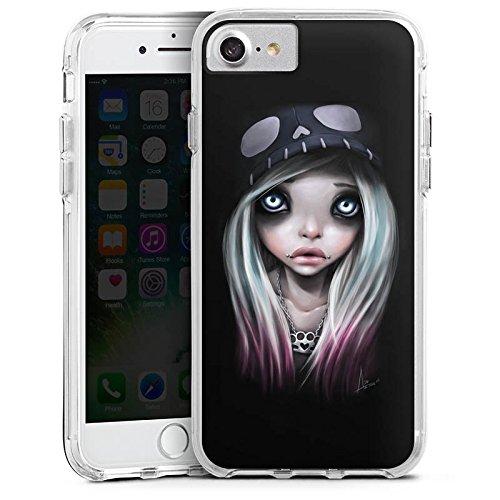 Apple iPhone 6 Plus Bumper Hülle Bumper Case Glitzer Hülle Girl Kunst Art Bumper Case transparent