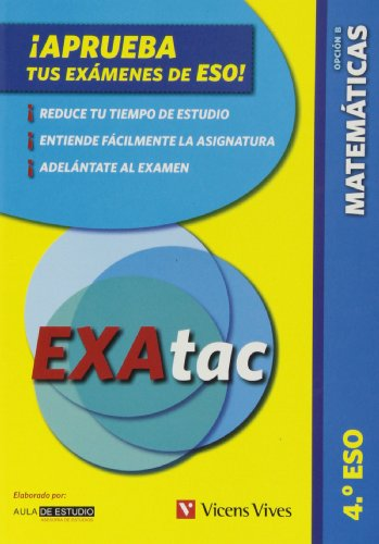 Exatac 4 ESO. Matemáticas Op. B. Tecnológico (Exatac. Castellano) - 9788468210766