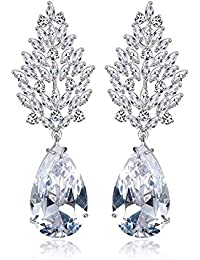 Happy GiftMart Swarovski Elements Diamond Sparkling Crystal Earrings For Women And Girls