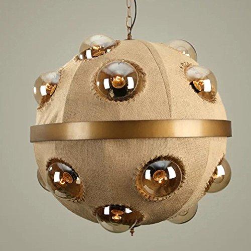 LINA-Creative Soggiorno Ristorante lampadari stile Liberty biancheria personalità industriali bulbo di vetro Magic Bean - Argento Bean