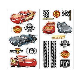 Dekora-231341 Rayo McQueen Adornos Comestibles de Cars para Cupcakes, Muffins, Bizcochos o Tartas Infantiles, color rojo (231341)