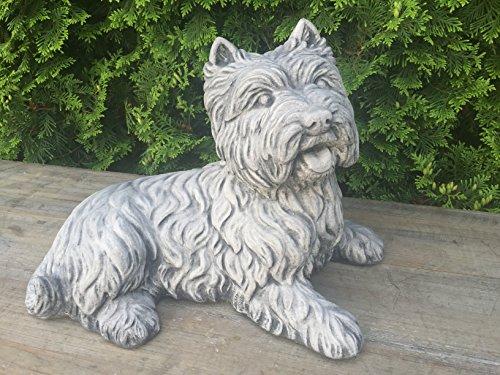 Steinfigur Gartenfigur Hund Figur Skulptur West Highland Terrier Westi 44cm 15kg