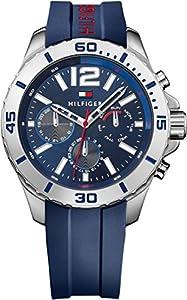 Tommy Hilfiger Hombre Reloj de pulsera analógico cuarzo silicona 1791142