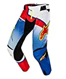 PANTALONE MOTO CROSS ENDURO ALPINESTARS TECHSTAR VENOM 2017 LIMITED EDITION (32, BLU-WHITE-RED)