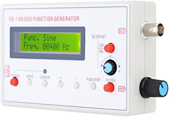MagiDeal 1HZ-500KHZ Functional Signal Generator Sine+Square +Triangle+ Sawtooth Waveform