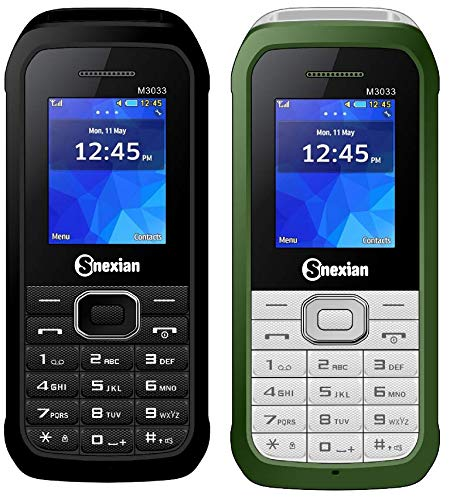 Snexian M3033 Feature Mobile Phone Combo Of Two Mobiles(Black+Green) With 1.8 Inch, Dual Sim, Open FM, 1000 Mah Battery, BLUETOOTH, CAMERA, Upto 16 GB Expandable Memory, BIS CERTIFIED & 1 YEAR WARRANTY