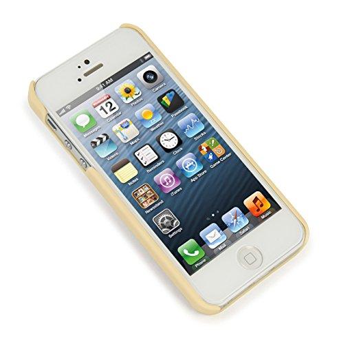 Tucano Pied de poule Case Gold für Apple iPhone 5/5S oro