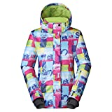 Frauen Dick Bunt Wasserdicht Skijacke, Ski-Anzug Damen Snowboard snowear Outdoor-alecks Winter-Mantel-Shirt-E L