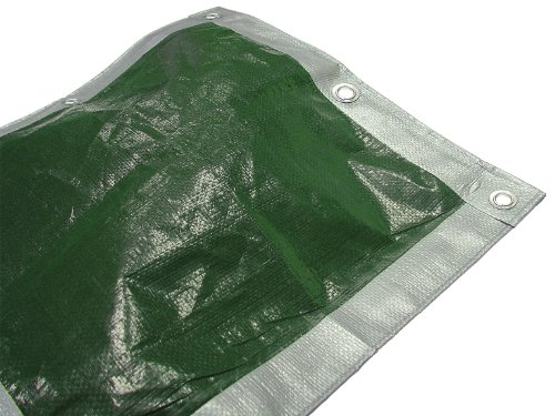 Faithfull, copertura impermeabile da esterno, 5.4 x 3.6 m, colore: verde/argento