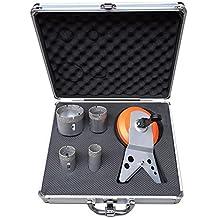 Juego de brocas de diamante M1428mm/35mm/43mm/65mm para amoladora de ángulo en maletín de aluminio