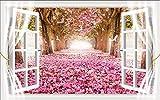 Willsego 3D Tridimensionali Muro Adesivi False Finestre Nella Stanza da Salotto sfondo sfondo Muro adesivi adesivi Creative o autoadesivi undurchlässig, Due Piccolo, In, Cinque