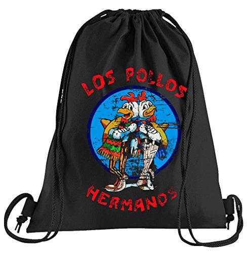 Los Kostüm Pollos Hermanos - T-Shirt People Los Pollos Hermanos Sportbeutel - Bedruckter Beutel - Eine schöne Sport-Tasche Beutel mit Kordeln