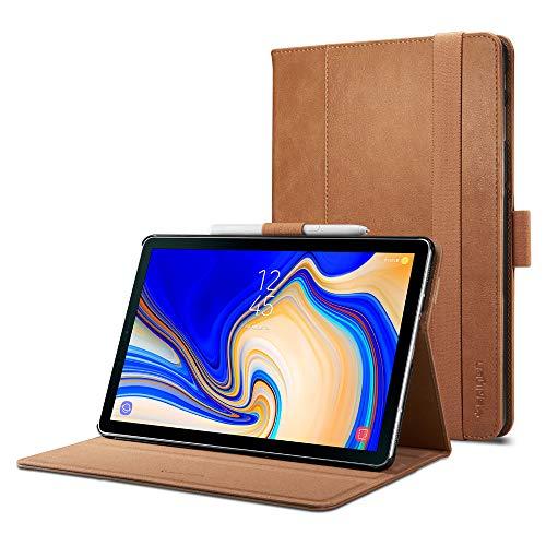 Spigen Galaxy Tab S4 Hülle, Stand Folio (Version 2) entworfen für Galaxy Tab S4 10.5 Zoll 2018 Case Cover (SM-T830/SM-T835) - Braun