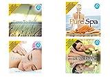 Oferta de belleza e Spa, 4 Doppi CD Para el fondo de centros de belleza e Spa, Time To Relax, Pure Spa, Bath Time, Music For Massage, Relax Music, Música instrumental