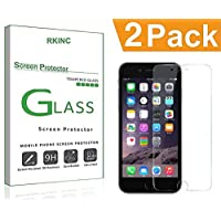 RKINC for Iphone 7 8 Screen Protector, [2 Pack] Crystal Clear Tempered Glass Screen Protector [9H Hardness][2.5D Edge][0.33mm Thickness][Scratch Resist] for Apple Iphone 7 8
