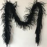 Sowder 182,9cm Länge 1-lagig Strauß Feder Boa für Hochzeit/Party Dekoration, Feder Schal schwarz