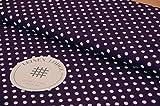 Leinen Lodge Webware Baumwolle Polka Dots Punkte LILA 80'er
