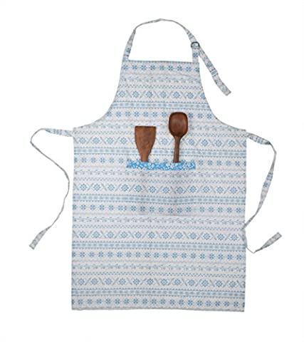Store Indya Kitchen Chef Apron for Women with Pocket Adjustable 100% Pure Cotton Machine Washable High Quality Multiuse Baking Cooking Gardening Painting (Blue &