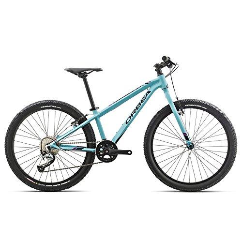 Orbea MX 24 TEAM Kinder Fahrrad 24 Zoll 9 Gang MTB Rad Aluminium Mountain Bike, G01224, Farbe Blau Rosa