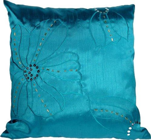 Blue Dolphin Kissenbezug, Delfin-Motiv, Bestickt, 45,7 cm, Grün -