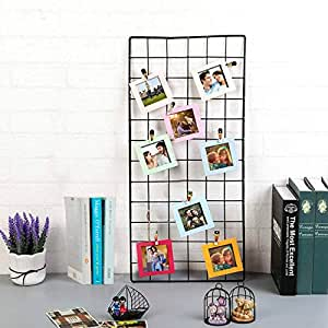 Art Street DIY Metal Photo Grid Wall for Photo Hanging, Wall Decoration and Display with Photo Clips (Black, 2 ft x 1 ft)