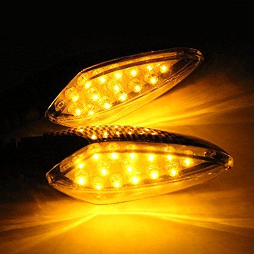 QHGstore 2 pezzi del motociclo luci di direzione a LED Girare freccia del segnale indicatore (Girata Del Lato Del Segnale Indicatore Luminoso)