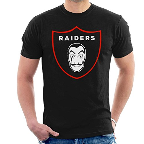 (Cloud City 7 La Casa De Papel Oakland Raiders Salvador Dali Logo NFL Men's T-Shirt)