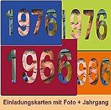 Einladungskarten Jahrgang 1966 1976 Geburtstag Geburtstagseinladungen Foto - 10 Stück