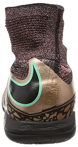 Nike Hypervenomx Proximo Ic, Chaussures de Football Homme, [TOP] Multicolore - Dorado / Negro / Verde (Mtlc Rd Brnz/Blk-White-Grn Glw)