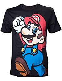 Nintendo Super Mario Bros. Herren T-Shirt Super Bros. Let's Go Mario