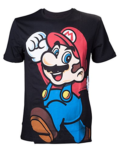 Preisvergleich Produktbild Nintendo Herren T-Shirt Super Mario Mehrfarbig (Schwarz)- Large